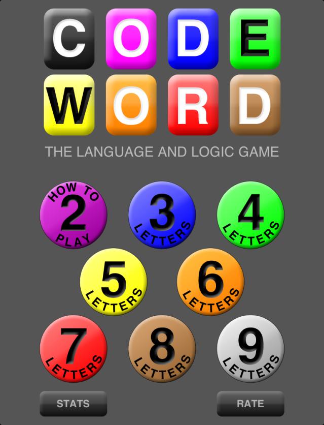 CODE WORD iPad